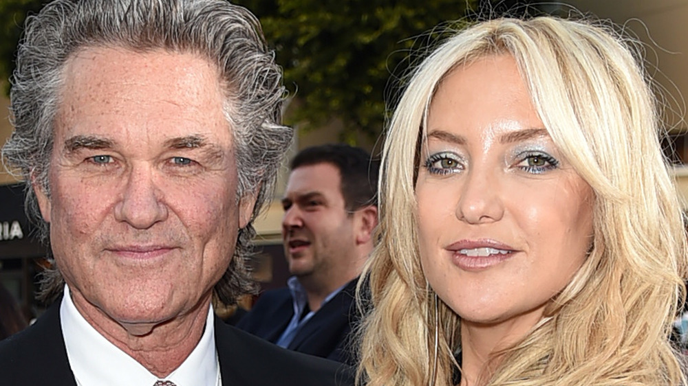Kate Hudson with stepfather Kurt Russell