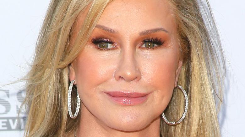Kathy Hilton hoop earrings