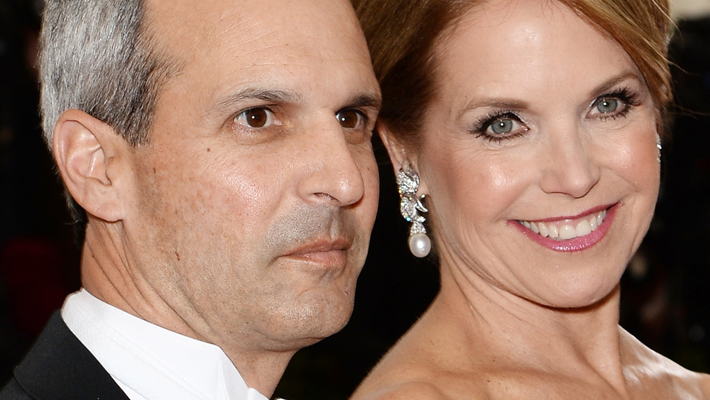 John Molner and Katie Couric smiling at a Hollywood event