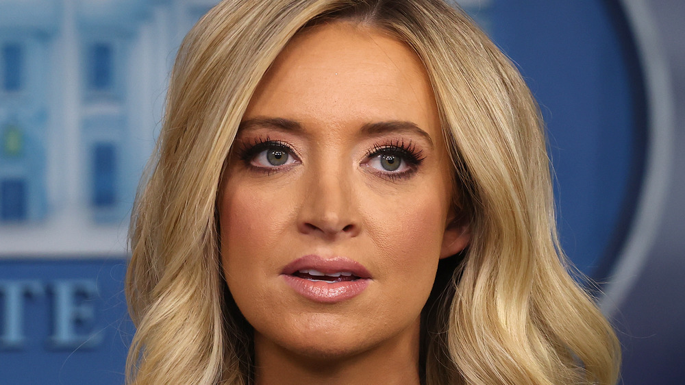 Kayleigh McEnany speaking at an event
