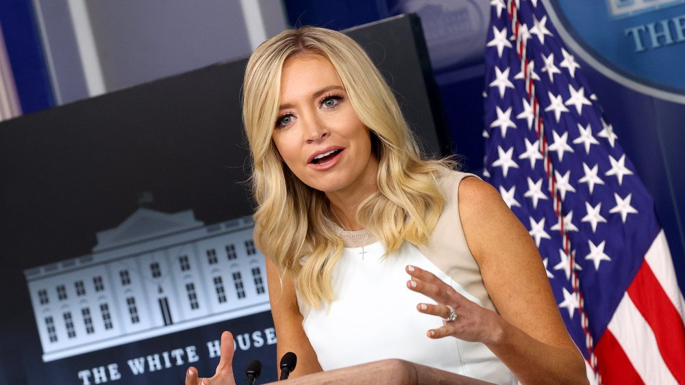 Kayleigh McEnany speaking at a White House press briefing