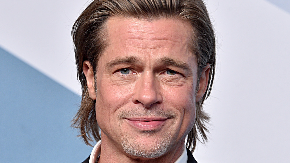 Brad Pitt on stage