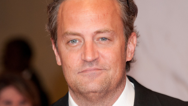 Matthew Perry arriving at White House Correspondents' dinner