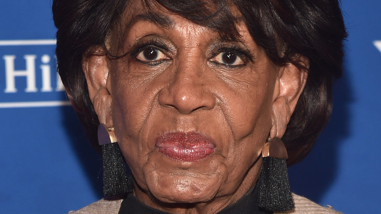 Maxine Waters with lips pursed