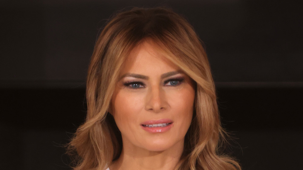 Melania Trump speaking at an event