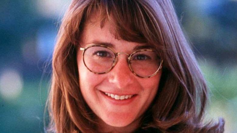 A young Melinda Gates smiling