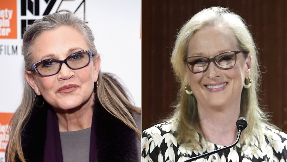 Meryl Streep and Carrie Fisher on the red carpet