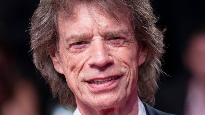 Mick Jagger on a red carpet