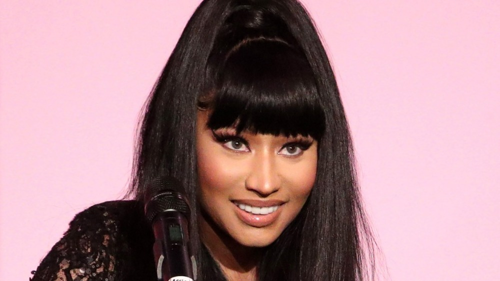 Nicki Minaj at microphone