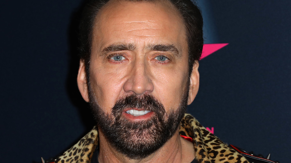 Nicolas Cage posing at an event
