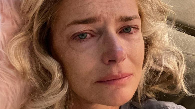 Paulina Porizkova crying