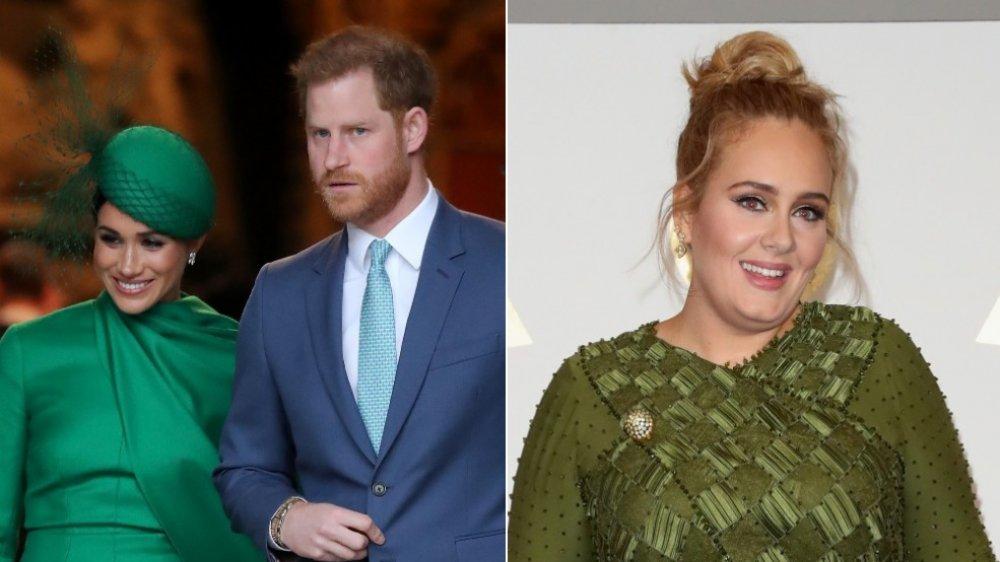 Meghan Markle and Prince Harry; Adele