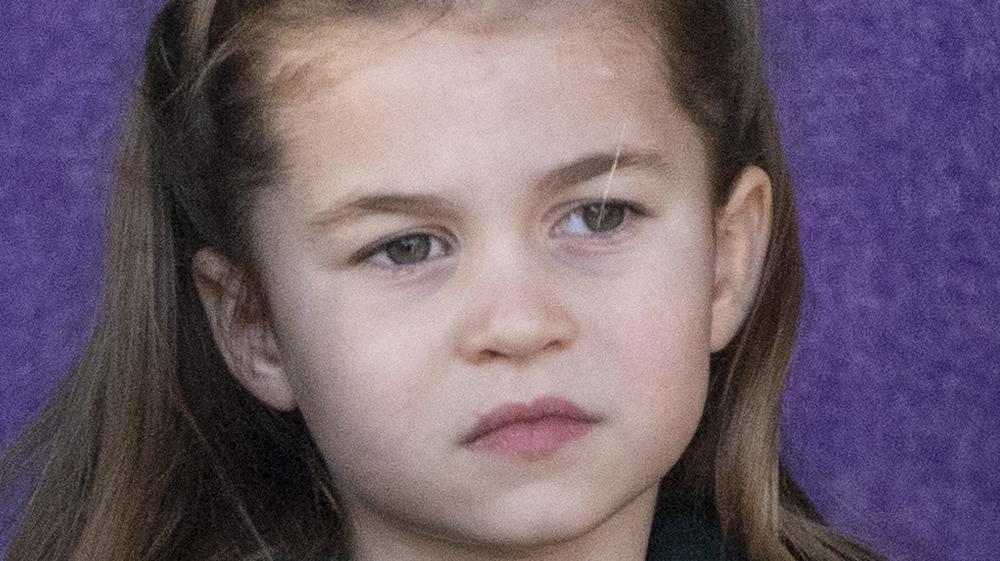 Princess Charlotte looking serious