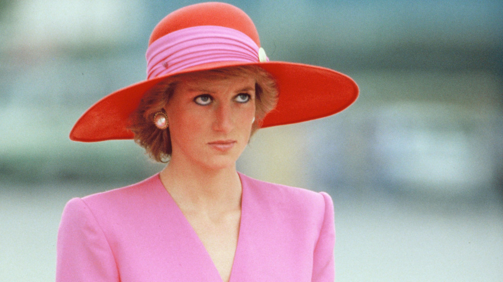 Princess Diana pink and red hat