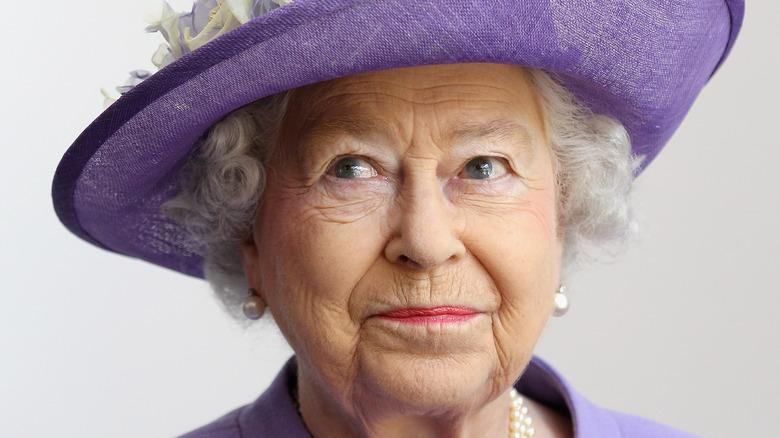 Queen Elizabeth II on the throne
