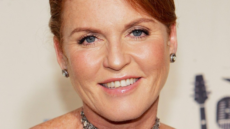 Sarah Ferguson smiling on the red carpet