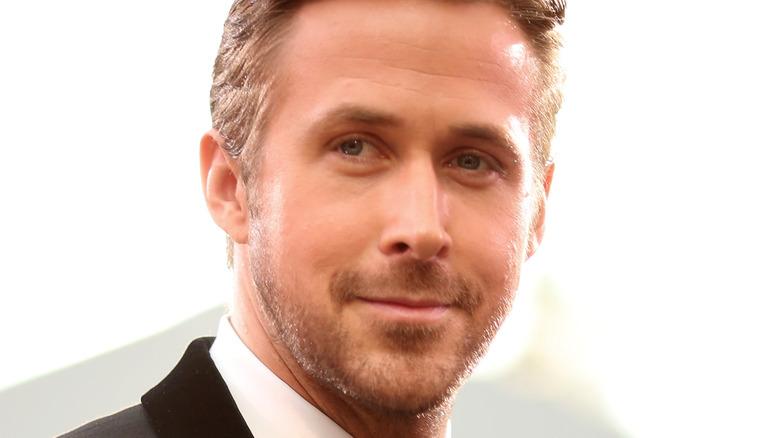 Ryan Gosling smirking
