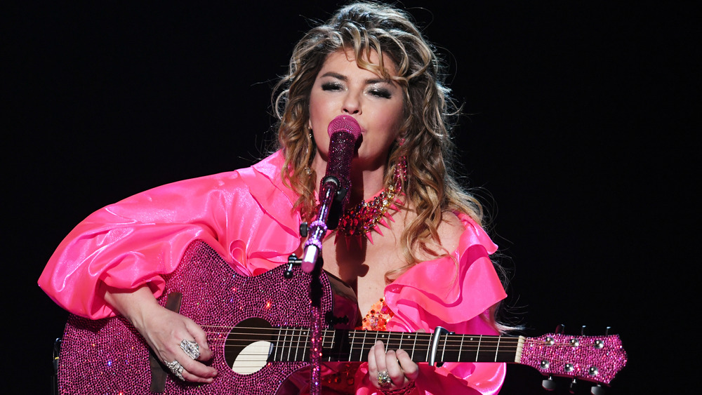 Shania Twain performing on stage