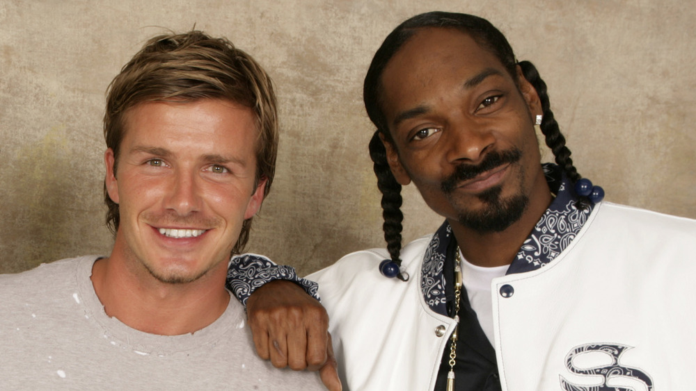 David Beckham and Snoop Dogg smiling