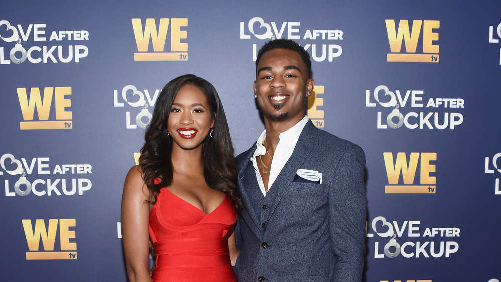 Bayleigh Dalton and Swaggy C at a WEtv event in 2018