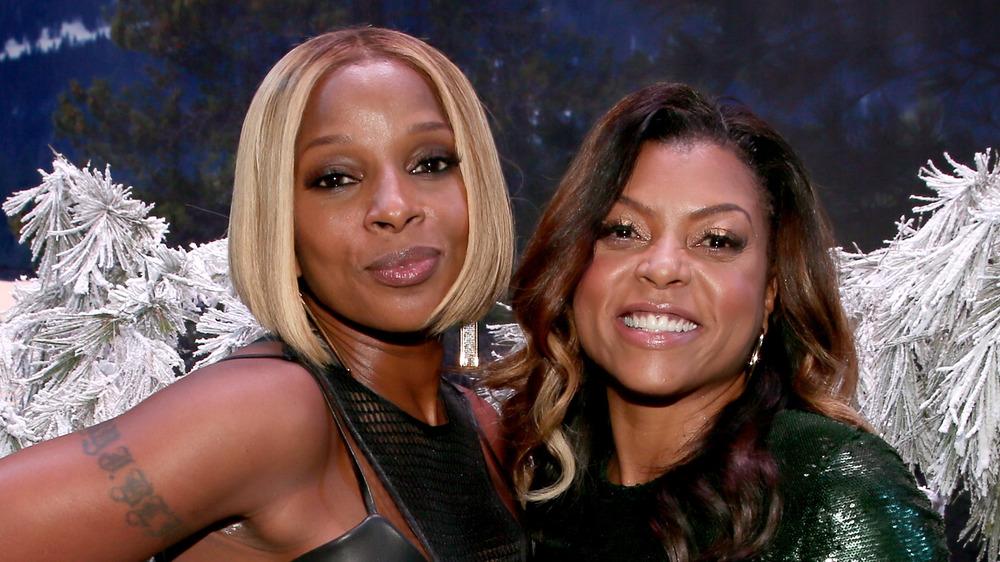 Mary J Blige and Taraji P Henson