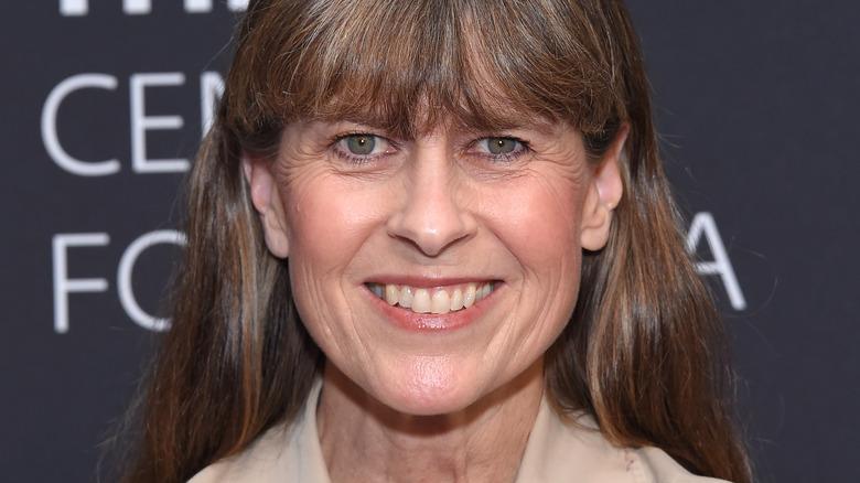 Terri Irwin, smiling, hair down with bangs, 2019 photo