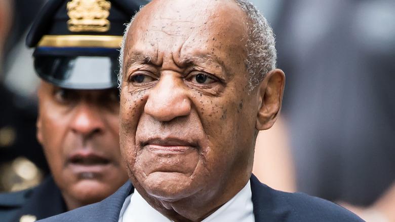 Bill Cosby staring ahead