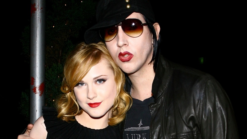 Evan Rachel Wood and Marilyn Manson on the red carpet