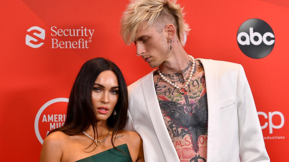 Megan Fox and Machine Gun Kelly attend an event