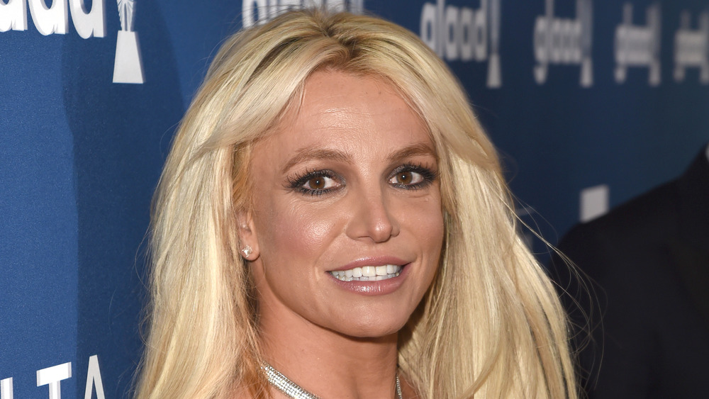 Britney Spears on a red carpet