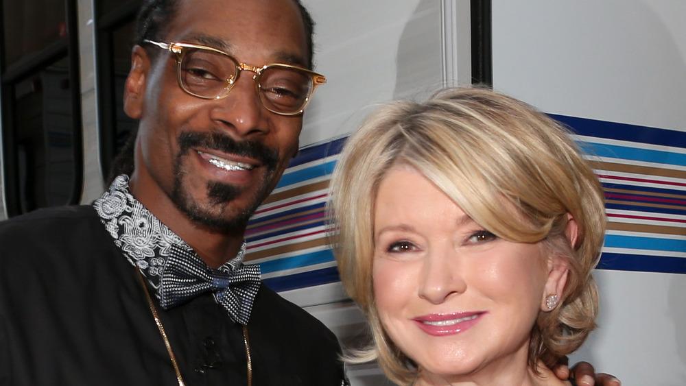 Snoop Dogg and Martha Stewart smile