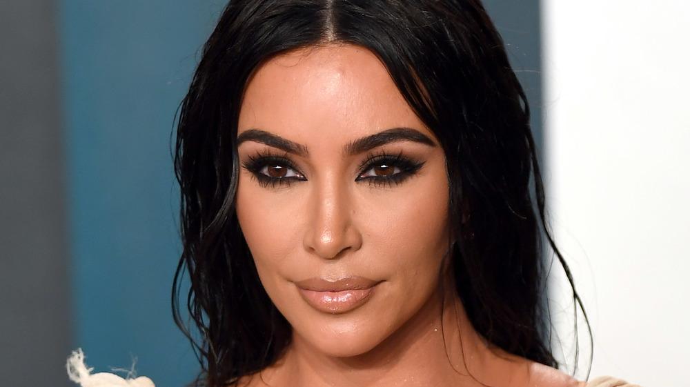 Kim Kardashian posing