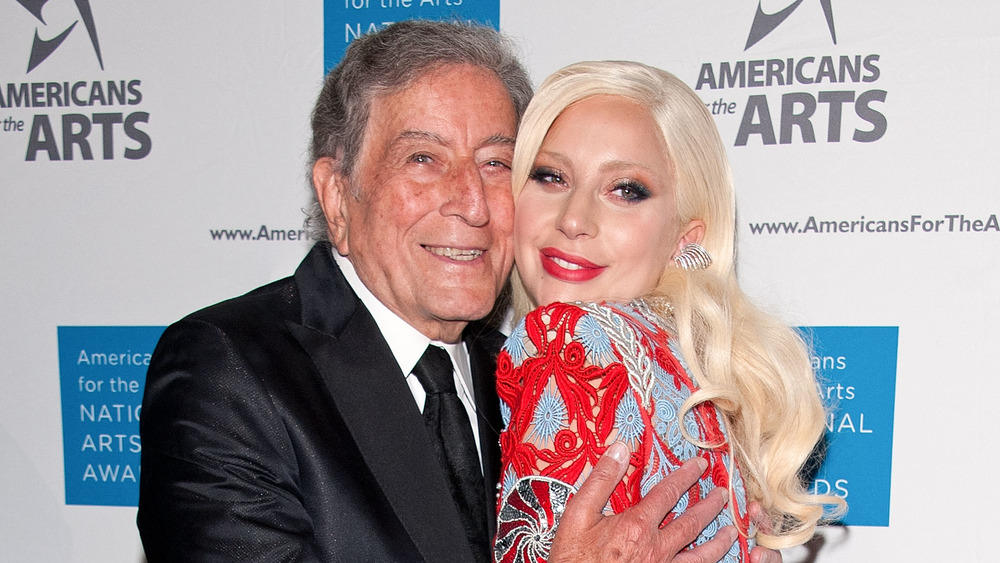 Tony Bennett and Lady Gaga at an event