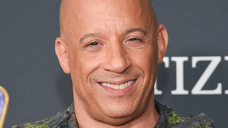 "Smiling  Vin Diesel arrives for the ""Avengers: End Game"" 2019"