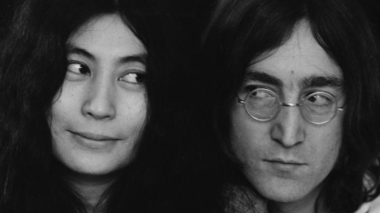 John Lennon and Yoko Ono together