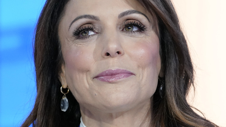Bethenny Frankel smirking and looking to the side
