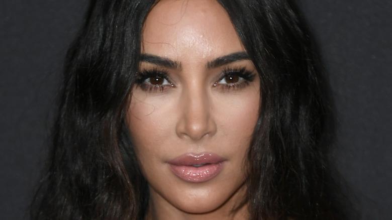 Kim Kardashian posing for a picture