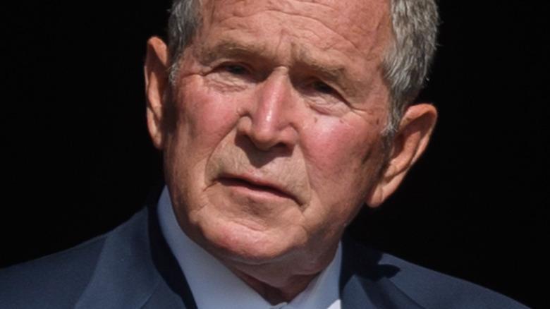 George W. Bush speaking in Shanksville, Pennsylvania