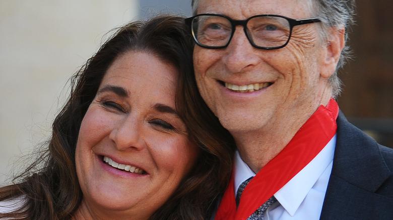 Bill Gates and Melinda Gates smiling