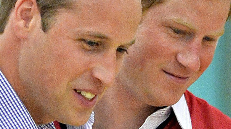 Prince William and Prince Harry close
