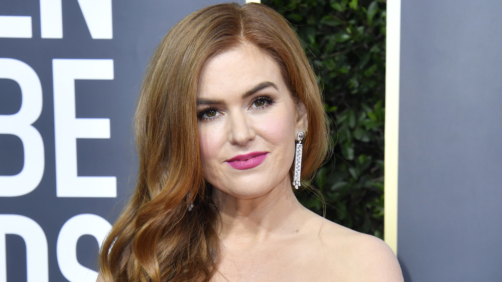 Isla Fisher on a red carpet