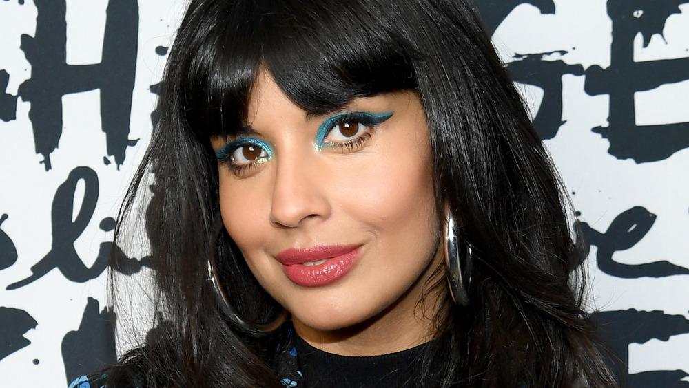 Jameela Jamil looking into camera