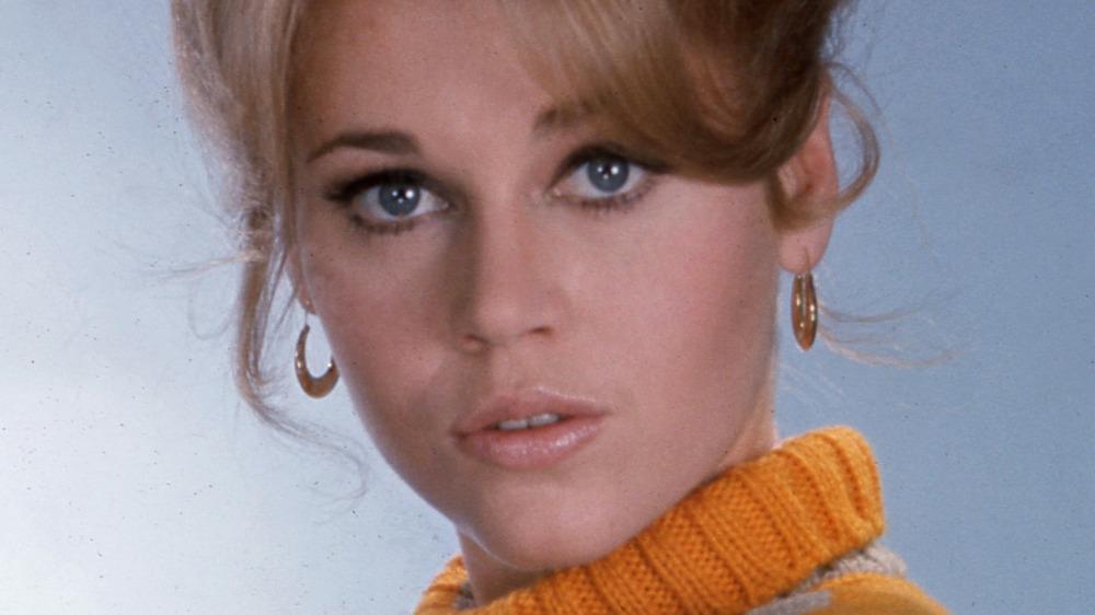 Jane Fonda posing for a 1968 portrait