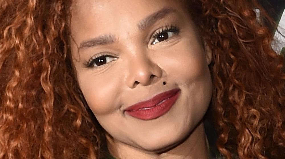 Janet Jackson curly hair