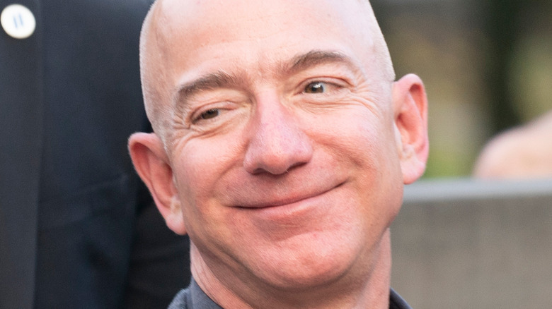 Jeff Bezos smiling at an event