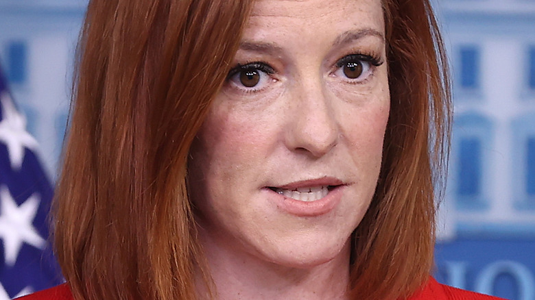 Jen Psaki speaking during White House press conference