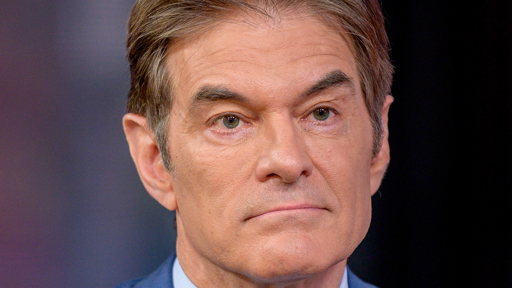 Dr. Oz with a serious expression