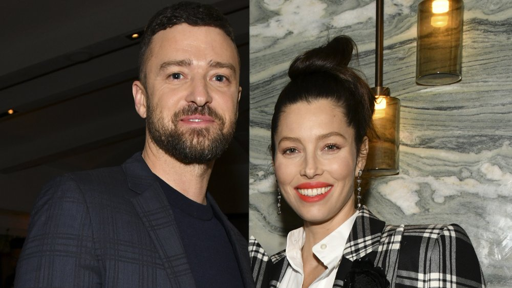 """Justin Timberlake and Jessica Biel pose for portrait at the Premiere of USA Network's """"The Sinner"""" Season 3"""