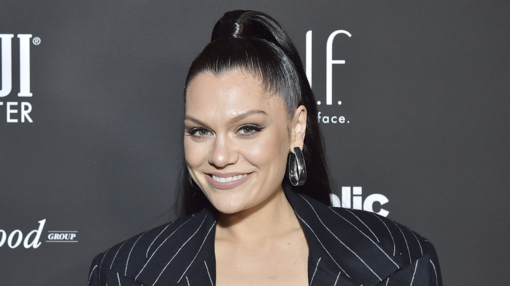 Jessie J smiling on the red carpet