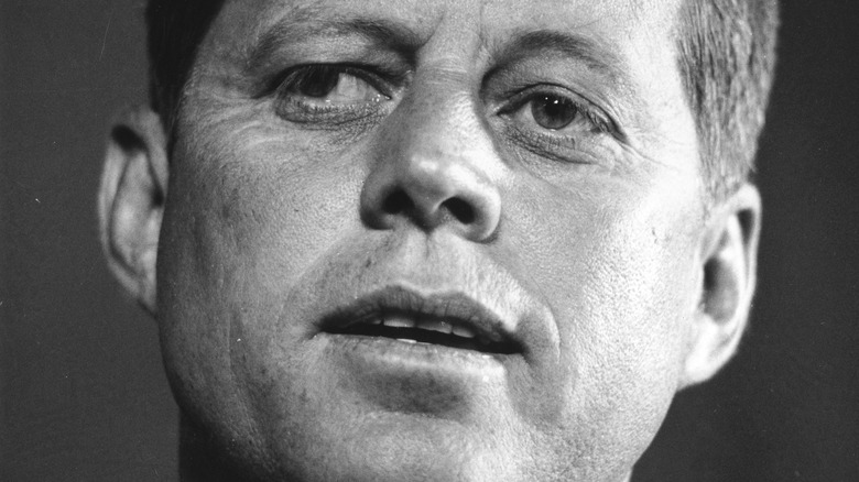 John F. Kennedy speaking at an event